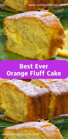 This Orange Fluff Cake was amazing! This was the closest recipe to the one I had lost from my mother …<br> This Orange Fluff Cake was amazing! This was the closest recipe to the o Just Desserts, Delicious Desserts, Dessert Recipes, Yummy Food, Desserts Fluff, Fluff Cake Recipe, Orange Fluff, Pound Cake Recipes, Recipes For Cakes