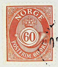 norwegian stamp, Norge 60 öre
