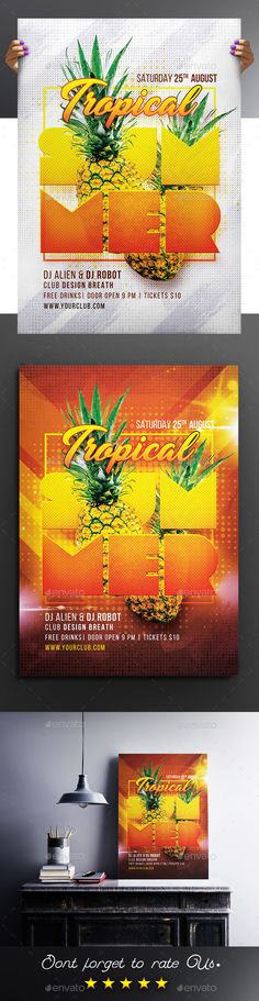 Tropical Summer Party Flyer / Poster