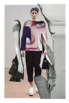 Pablo Thecuadro Fashion D, Fashion Images, Mixed Media Collage, Collage Art, Matthieu Bourel, Collages, A Level Art Sketchbook, Art Photography, Fashion Photography