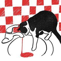 cat, Bloody Dairy by Min Liu, #gif illustration #animation