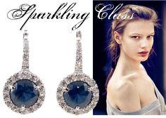 A sparkling joy of white, silver and deep blue. This is KIRA. http://www.civettajewels.it/store/it/home/131-orecchini-con-zirconi-blu-ultima-edizione.html#