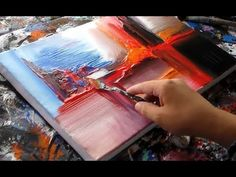 Abstract painting demonstration Abstract art by Roxer Vidal Abstract painting demonstration Abstract art by Roxer Vidal Abstract painting demonstration Abstract art by Roxer Vidal Abstract Painting Techniques, Painting Videos, Painting Lessons, Art Techniques, Painting & Drawing, Abstract Art, The Joy Of Painting, Unique Paintings, Selling Art Online