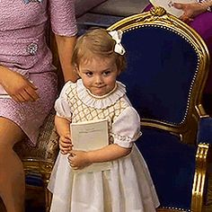 Princess Estelle of Sweden at the christening of her cousin Princess Leonore in the Chapel at Drottningholm Palace, June 8th 2014