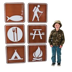 camp signs Make your classroom or playroom feel like a true campground with these Camp Sign Cutouts! Perfect for birthday parties, VBS or school events, these Camp Sign . Camping Signs, Camping Meals, Go Camping, Camping Hacks, Outdoor Camping, Camping Recipes, Camping Storage, Luxury Camping, Backpacking Recipes