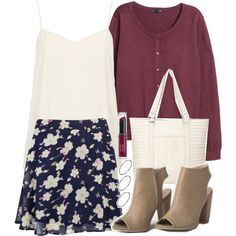 """Lydia Inspired Affordable First Day of School Outfit"" by veterization on Polyvore"