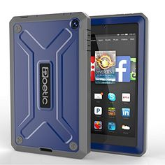 Poetic Revolution Rugged Hybrid Case for Amazon Fire HD 6 Cobalt >>> Click on the image for additional details. (Note:Amazon affiliate link)