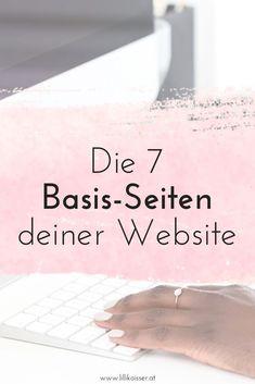 Du möchtest deine eigene Website erstellen und wei�t nicht, wo du anfangen sollst? Hier erfährst du, welche 7 Webseiten deine Website haben sollte - von der Homepage bis zur �ber-mich-Seite!
