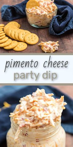 If you've been in the South long you know we love our pimento cheese. Here's a pimento cheese dip that'll please the crowds at any potluck. Southern Appetizers, Southern Recipes, Appetizers For Party, Southern Food, Potluck Recipes, Real Food Recipes, Vegetarian Recipes, Cooking Recipes, Yummy Yummy