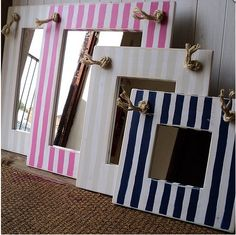 nautical mirrors for the centerpieces