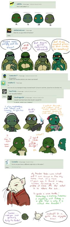Ask the AU Turtles: 1 by 10yrsy.deviantart.com on @deviantART