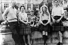 La princesse Anne avec la famille royale le 31 octobre 1972