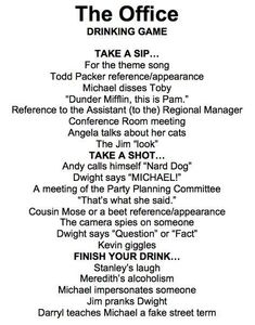 31 New Ideas Drinking Games For Parties Friends Alcohol William Higinbotham developed an analogue The Office Drinking Game, Friends Drinking Game, Tv Show Drinking Games, Drinking Games For Parties, Christmas Drinking Games, Fun Party Games, Adult Party Games, Adult Games, College Party Games