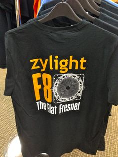 """Rent a Zylight F8 here at RBC and snag a free F8 """"Flat Fresnel"""" t-shirt while supplies last! Email Rentals to book your F8 at answers@rule.com or call 800-rule-com. Or stop by. We'd love to see you!"""