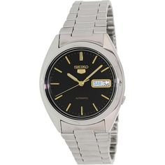 Seiko Men's 5 Automatic SNXG53K Silver Stainless-Steel Automatic Watch