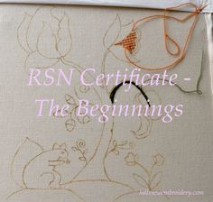 I have begun my time at the RSN! Read about my first two days of my Certificate as I tackle slate frames, pounce and learn about Jacobean Crewelwork.