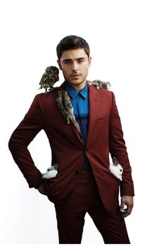 Zac Efron + adorable animals! Funny and cute at the same time!
