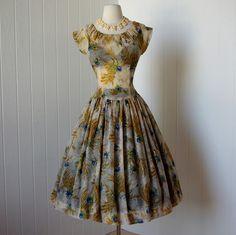 40's Sheer Floral Dress