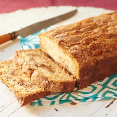 Amish Cinnamon Bread no kneading, you just mix it up and bake it.