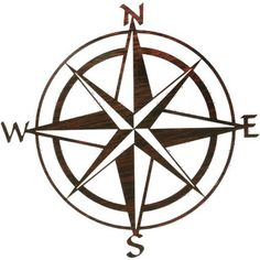 """Lazart 20"""" Compass Rose Wall Art ~ Laser-cut from durable 1/8"""" steel with a clear-coated finish for long-lasting indoor and outdoor use. Built-in hooks for easy hanging. Hangs approximately 3/8"""" from the wall, creating a unique floating effect."""