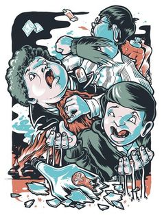 'Superbad' by Kevin Luong for 'Judd Apatow Tribute Show' at Gallery 1988