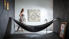 Nothing's more relaxing than lying back on a hammock. But add water to the hammock's design and you've got the most epic bath tub, ever. Designed by London-based Splinter Works, this 2.7-metre long tub, known as the Vessel, is suspended in the air just like a hammock and releases water through the base into a […]