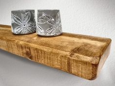Rustic Chunky Floating Shelves - Bespoke Sizes, Range of wax Finishes. DELIVERED WITHIN 4-6 DAYS for FREE!!