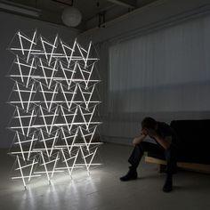 Tensegrity Space Frame Lights by Michal Maciej Bartosik