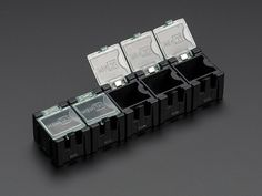 Antistatic Modular Snap Boxes - SMD component storage - 5 pack