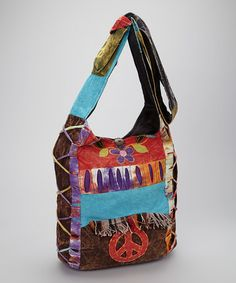 Take a look at this Peace Fringe Shoulder Bag by Rising International on #zulily today!