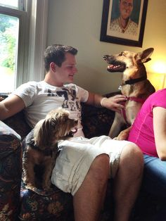 Before we adopted Eden, we fostered six German shepherds fora shepherd rescue in our region. Eden was our sixth foster, and we decided to keep her, that little terror. We haven't fostered si…