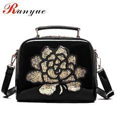 Embroidery Bags Women Spring New Fashion PU Leather Crossbody Bags Women's Designer Brand Handbag Ladies Top Handle Bag Woman