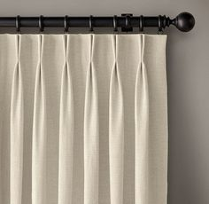 Custom Belgian Linen Cross Weave French-Pleat DraperySelect Colors On Sale Drapes And Blinds, Types Of Curtains, House Blinds, Drapery Panels, Curtains With Rings, Curtain Types, Window Drapes, Pinch Pleat Curtains, Pleated Curtains