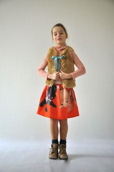 emma and mona // kid-made skirt