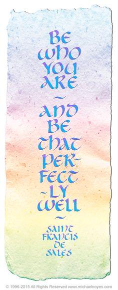Be, Saint Francis de Sales, Calligraphy Art Plaques