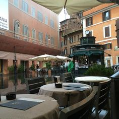 Piazza San Lorenzo in Lucina...Ciampini at #29 is the place for expresso...best place in town for pistachio gelato...