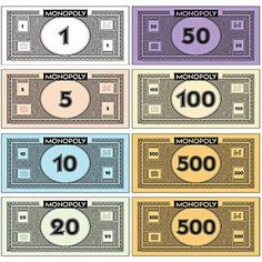 8 Best Images of Free Printable Monopoly Money Templates - Printable Monopoly Money, Printable Monopoly Play Money and Blank Printable Play Money Template Monopoly Disney, Monopoly Party, Monopoly Theme, Monopoly Board, Custom Monopoly, Play Money Template, Printable Play Money, Printable Board Games, Discount Party Supplies