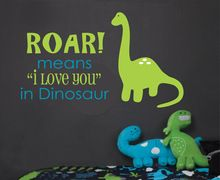 Roar betekent ik houd u-dinosaurus muurtattoo-kinderkamer muurtattoo vinyl muurstickers Size76-45 cm(China (Mainland))