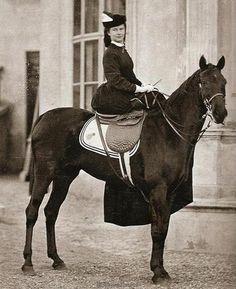 Empress Elizabeth on horse.
