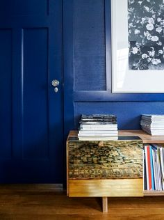 Blue Wall and door
