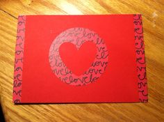 Love double sided card on Etsy, $3.00