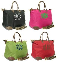 Monogramed Longchamp Purses