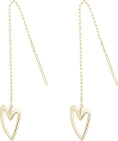 Break-up 'Needle & Thread' Earrings in Gold, Rose Gold & Silver Pall Mall, Cleaning Silver Jewelry, Multiple Ear Piercings, Queen Of Hearts, Heart Earrings, Needle And Thread, Breakup, Heart Shapes, Sterling Silver Jewelry