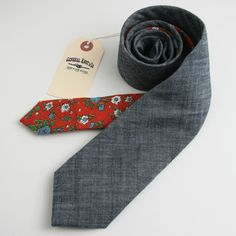 New ties made from vintage fabrics.