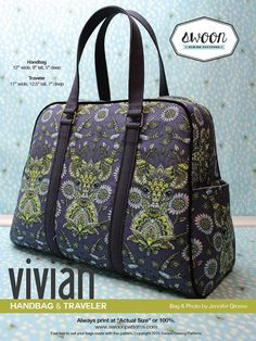 Swoon Patterns Vivian Handbag Traveler Pdf Bag Purse