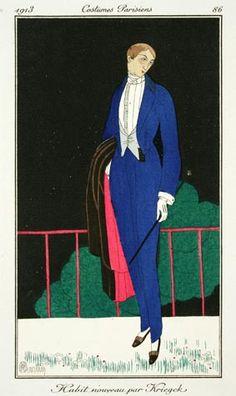 Charles Martin (French, 1884-1934). Plate 86. Habit nouveau par Kriegck (New dress coat by Kriegck). 1913