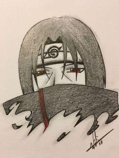 Uchiha Itachi by Creepy Drawings, Anime Drawings Sketches, Naruto Drawings, Cool Art Drawings, Anime Sketch, Sasuke Drawing, Naruto Sketch Drawing, Wallpaper Naruto Shippuden, Naruto Shippuden Anime