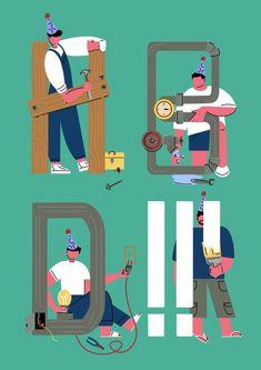 Mister Fix-It Invitation Cards, Invitations, Paper Goods, Whimsical, Illustration Art, Stationery, Artist, Artwork, Gifts