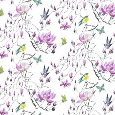 Madame Butterfly II - Amethyst Fabric  | Designers Guild