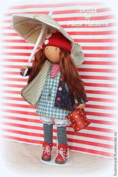 "Купить Текстильная кукла ""On this rainy day...."" - кукла, куколка, текстильная кукла"